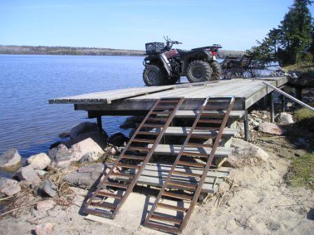 Steve used the ramps to get the 4-wheeler in place.
