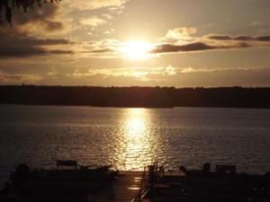 Nice sun and dock