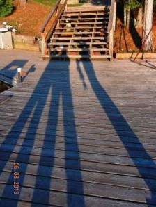 shadows on the dock