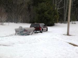last years snow