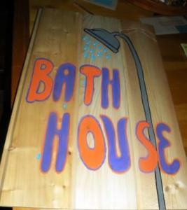 bath house sign